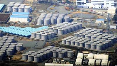 Radioactive water storage tanks